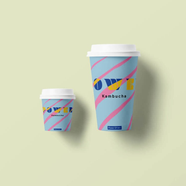 Kombucha Paper Cup Mockup